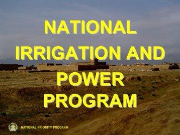 NATIONAL PRIORITY PROGRAM - Afghan