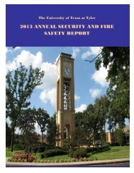 Annual Security Report & Crime Statistics - The University of Texas ...