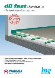– lattiarakentamisen uusi taso dB fast-LÄMPÖLATTIA - Knauf