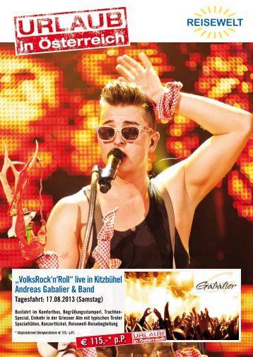 """VolksRock'n'Roll"" live in Kitzbühel Andreas Gabalier & Band"