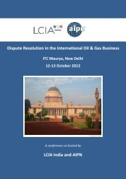 Dispute Resolution in the International Oil & Gas Business ... - AIPN
