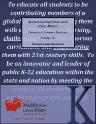 Kindergarten curriculum guide - Middleton Cross Plains Area School ...