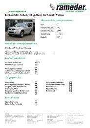 Einbauhilfe Anhängerkupplung für Suzuki Vitara