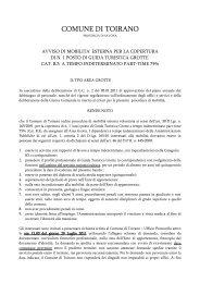 Avviso mobilita - Albo pretorio - Comune di Celle Ligure
