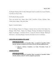 Council Minutes Monday, July 22, 2013 - City Of St. John's