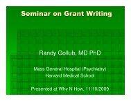 Seminar on Grant Writing