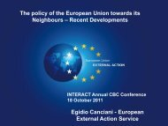 Presentation | European Neighbourhood Policy - Recent ... - Interact
