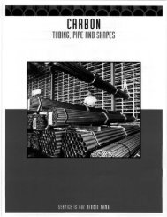 Carbon - Tubing, Pipe and Shapes - Tube Service Co.