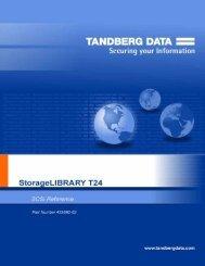 StorageLibrary T24 SCSI Reference - Tandberg Data