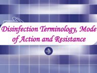 Disinfection Terminology, Mode of Action and Resistance