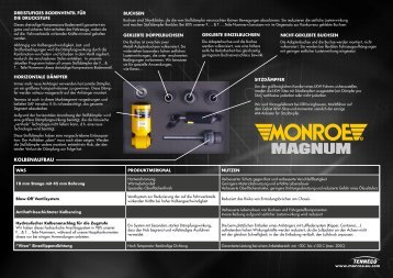 Monroe Magnum Produktbroschüre im PDF Format ... - Tenneco