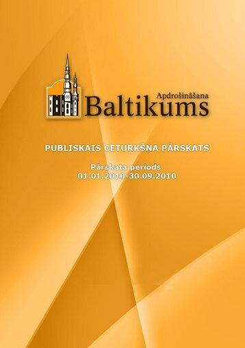 Finanšu rādītāji par 2010.gada 3.ceturksni - Baltikums