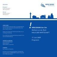 NRW.BANK.Vor Ort - WFO Wirtschaftsförderung Oberhausen GmbH