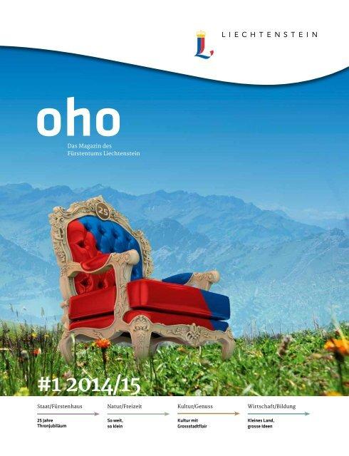 oho #1 - Das Magazin des Fürstentums Liechtenstein