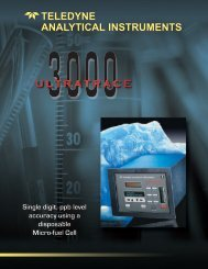 Download the brochure - Teledyne Analytical Instruments