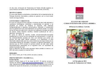 Programa del curso - Universidad de Castilla-La Mancha