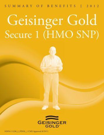 Summary of Benefits - Geisinger Health Plan