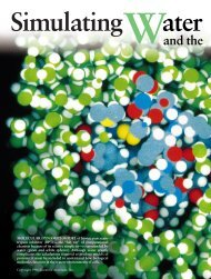 Simulating Water and the Molecules of Life - Levitt Lab