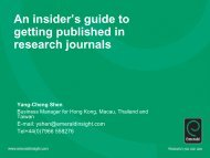 An insider's guide to getting published in research journals Yang ...