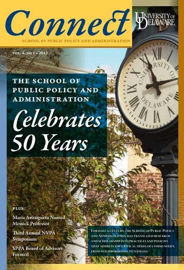 Spring 2012 Issue - School of Public Policy & Administration ...