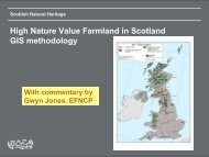 High Nature Value Farmland in Scotland GIS methodology