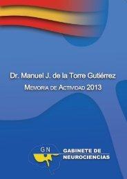 Memoria de Actividad - Dr. Manuel J. de la Torre Gutierrez - 2013