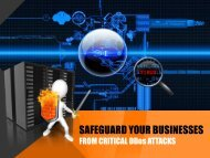 Secure your businesses with effective DDos protection services