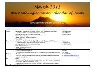 March 2011 - Warrumbungle Region