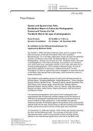 Press Release - Stiftung Brandenburger Tor