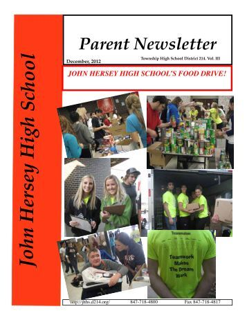December Newsletter Available - John Hersey High School - High ...