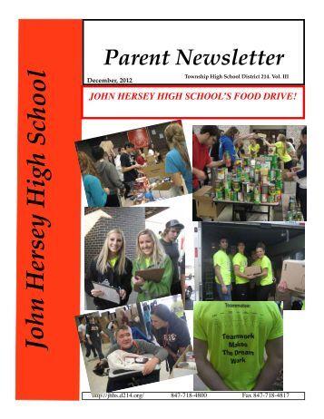 December Newsletter Available - John Hersey High School - High ...
