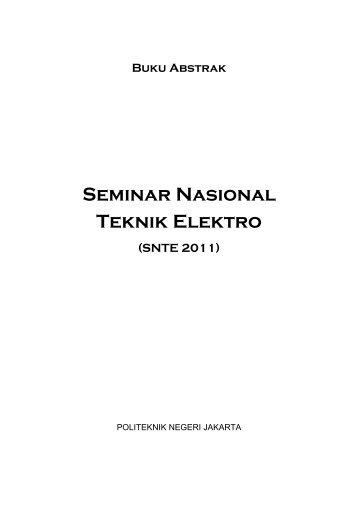 1. buku abstrak seminar nasional tahun 2011. - ELEKTRO ...