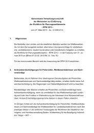 VwV RPW 2013 in BW - und Hochbauverwaltung Baden-Württemberg