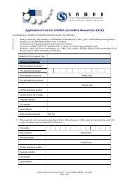 Accreditation Application Form - SAMRA