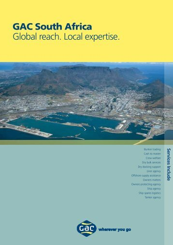 GAC South Africa Global reach. Local expertise.