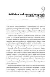 Multilateral environmental agreements: trends in verification - VERTIC