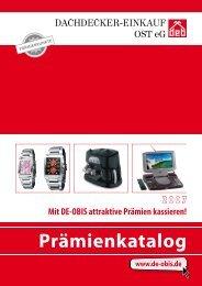 DE-OBIS Prämienkatalog Online bestellen Punkte sammeln Prämien