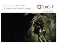 October 3, 2012 - Oracle Mining Corp