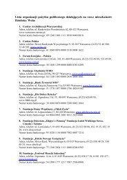 Lista organizacji po ytku publicznego działających na rzecz ...