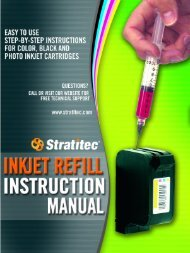 Inkjet Refill Instruction Manual - Stratitec