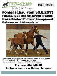 Startliste und Programm - Zuchtverband CH Sportpferde