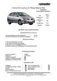 Einbauhilfe Kupplung für Nissan Almera Tino - AutoFaszination