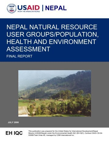 nepal nepal natural resource user groups/population, health and ...