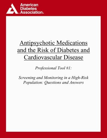 Antipsychotic Medications and the Risk of Diabetes - American ...