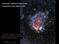 Formation stellaire induite par les régions HII galactiques - Graal