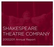 2011 Annual Report - The Shakespeare Theatre Company