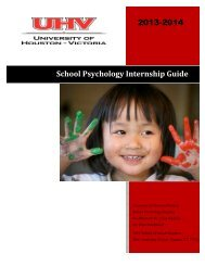 School Psychology Internship Guide 2013-2014 - University of ...