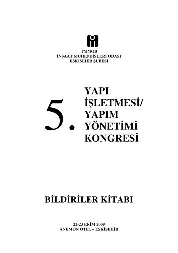 YAPI ŞLETMES / YAPIM YÖNET M KONGRES - E-Kütüphane