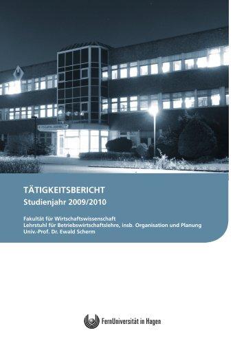Tätigkeitsbericht 2009/2010 - FernUniversität in Hagen