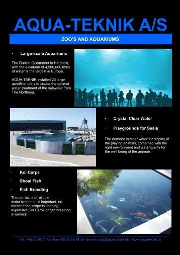 Zoo's and Aquariums - aqua-teknik a/s